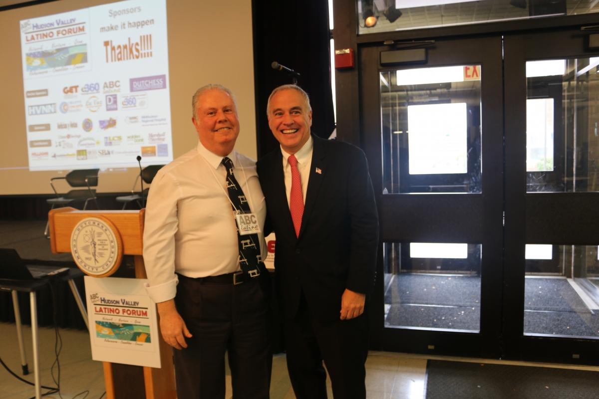 NYS Comptroller, Thomas P. DiNapoli andGET-e360-ABClatino President,Enrique Rob Lunski