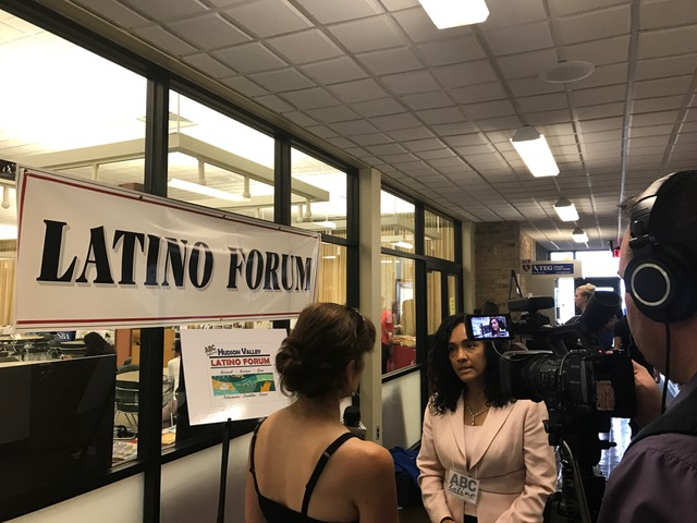 TV Interview at the Latino Forum