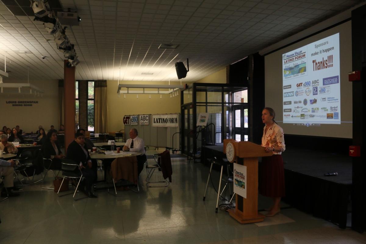 The President of DCC, Dr. Pamela Edington welcomes the Forum participants