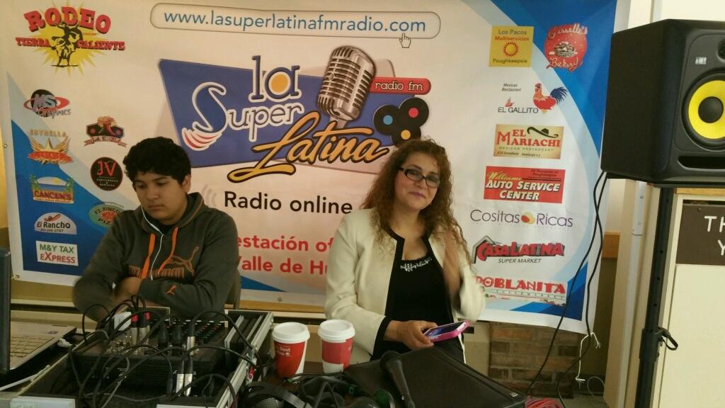 La SuperLatinaFM radio broadcasting live from the Latino Forum