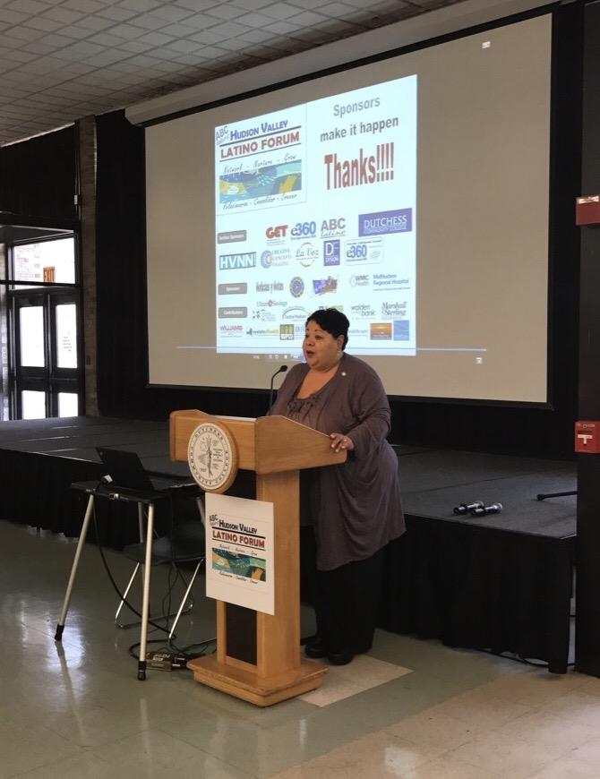 NY Secretary of State Rossana Rosado opens the Latino Forum